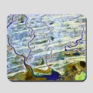 Saharan desert rivers, satellite image Mousepad