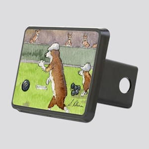 Bowls on the green Rectangular Hitch Cover