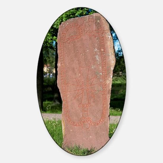 Rune stone Sticker (Oval)