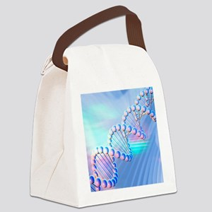 DNA strand, artwork Canvas Lunch Bag