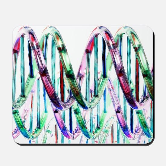 DNA molecules, artwork Mousepad