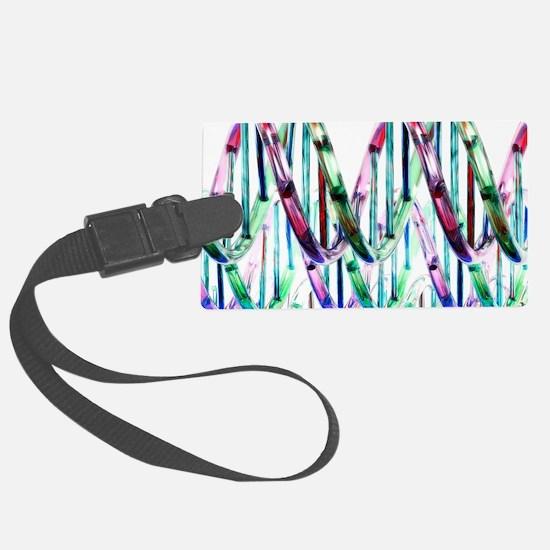 DNA molecules, artwork Luggage Tag
