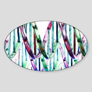 DNA molecules, artwork Sticker (Oval)