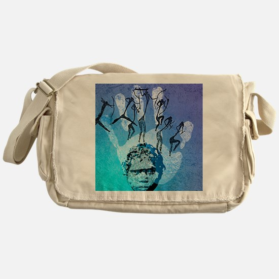 Rock painting Messenger Bag