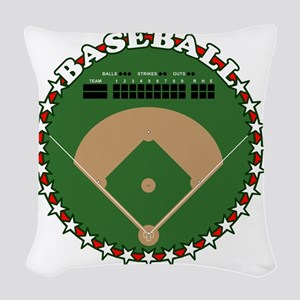 Curveball-W Woven Throw Pillow