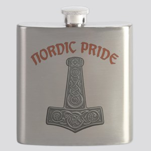 Nordic Pride Mjölnir - Silver Flask