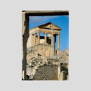 Roman capitol at Dougga, Tunisia Rectangle Magnet