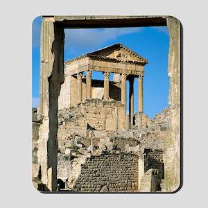Roman capitol at Dougga, Tunisia Mousepad