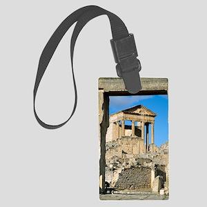 Roman capitol at Dougga, Tunisia Large Luggage Tag