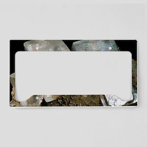 Rock salt crystals License Plate Holder