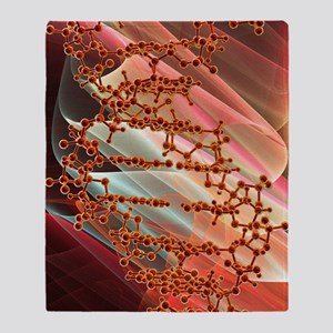 DNA molecule, artwork Throw Blanket