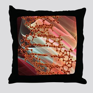 DNA molecule, artwork Throw Pillow