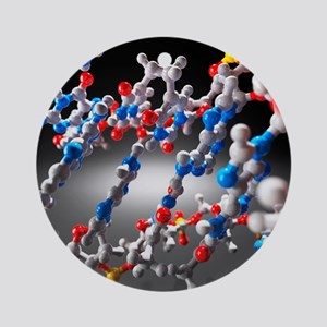 DNA molecule, artwork Round Ornament