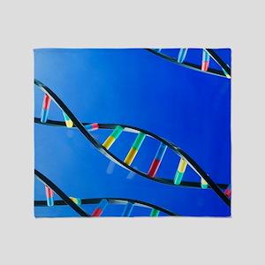 DNA molecules Throw Blanket