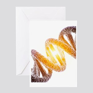 DNA molecule, artwork Greeting Card