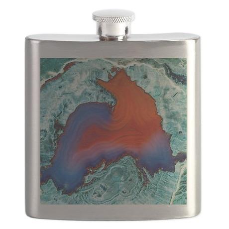 Rhyolitic geode Flask