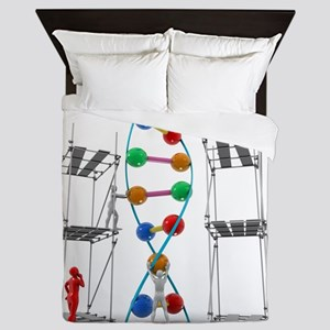 DNA construction, artwork Queen Duvet