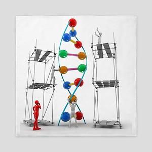 DNA construction, artwork Queen Duvet
