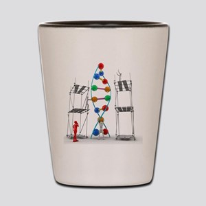 DNA construction, artwork Shot Glass