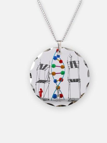 DNA construction, artwork Necklace