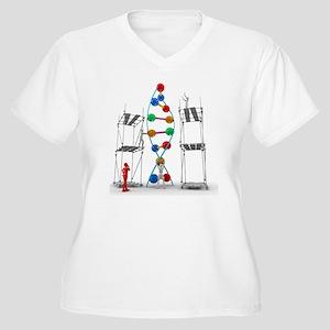 DNA construction, Women's Plus Size V-Neck T-Shirt