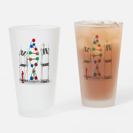DNA construction, artwork Drinking Glass