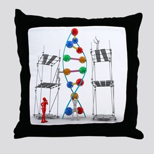 DNA construction, artwork Throw Pillow