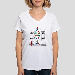 DNA construction, artwork Women's V-Neck T-Shirt