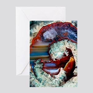 Rhyolitic geode Greeting Card