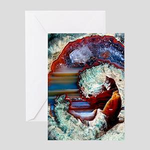 Rhyolitic geode Greeting Card