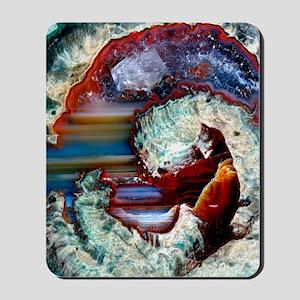 Rhyolitic geode Mousepad
