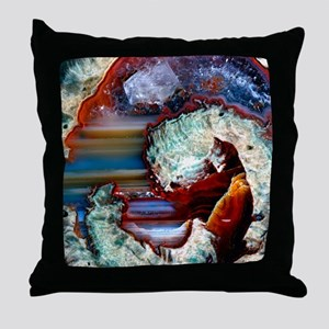 Rhyolitic geode Throw Pillow