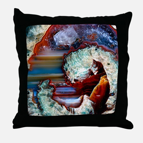 Rhyolitic geode Throw Pillow