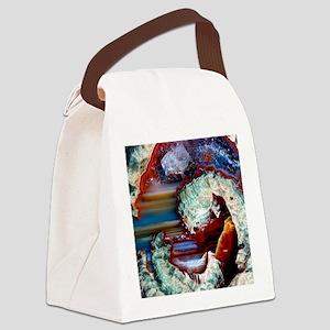 Rhyolitic geode Canvas Lunch Bag