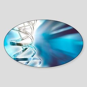 DNA molecule, artwork Sticker (Oval)