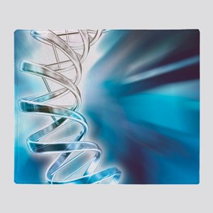 DNA molecule, artwork Throw Blanket