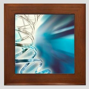 DNA molecule, artwork Framed Tile