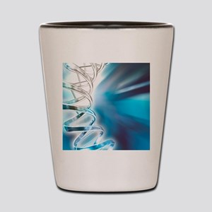 DNA molecule, artwork Shot Glass