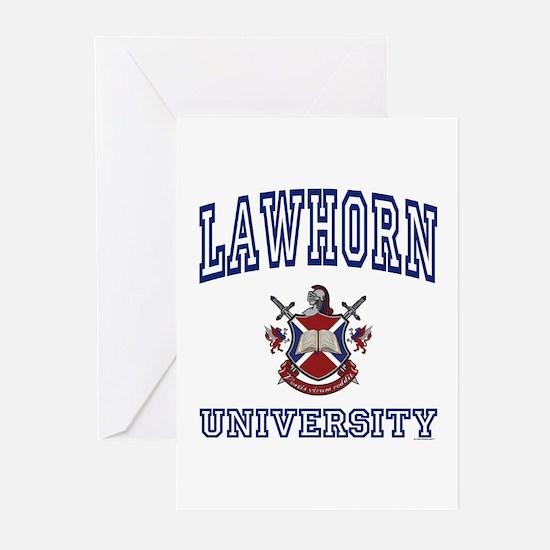 LAWHORN University Greeting Cards (Pk of 10)