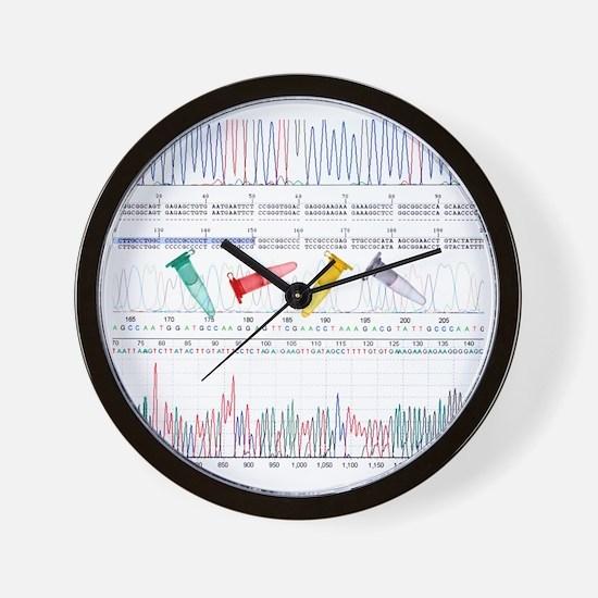 DNA analysis Wall Clock