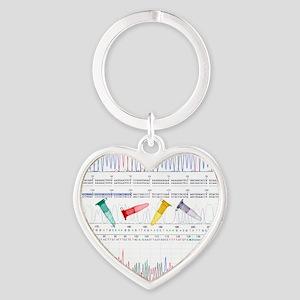 DNA analysis Heart Keychain