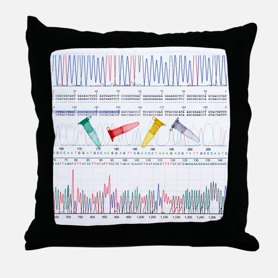 DNA analysis Throw Pillow