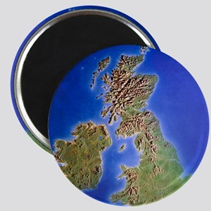 Relief map of the United Kingdom and Eire Magnet