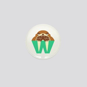 W is for Walrus Mini Button