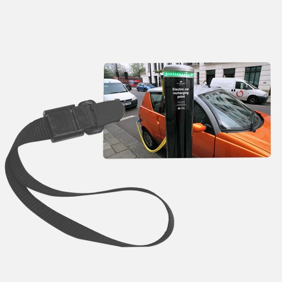 Recharging an electric car Luggage Tag