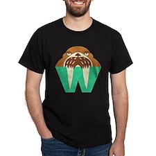 W is for Walrus Dark T-Shirt