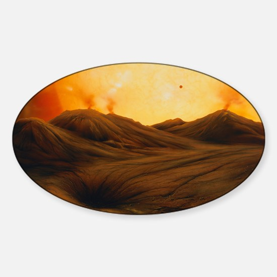 Red giant Sun Sticker (Oval)