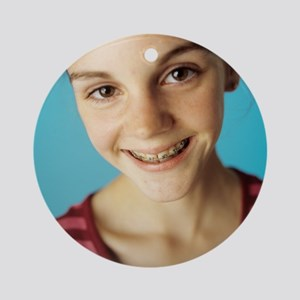 Dental braces Round Ornament