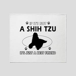 SHIH TZU designs Throw Blanket