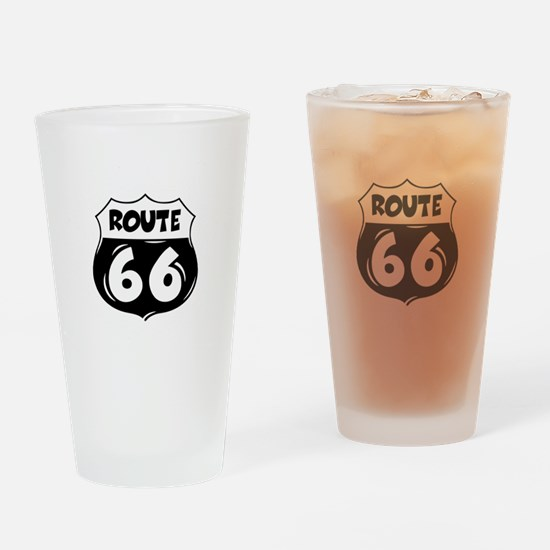 Festive Route 66 Drinking Glass